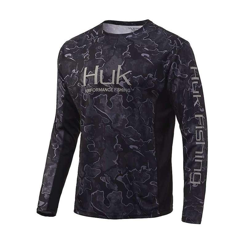 トップス, カジュアルシャツ  Huk Mens Icon X Camo LS Top Hannibal Bank