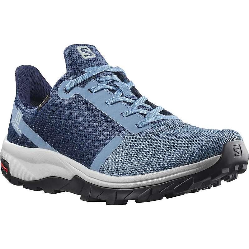 サロモン レディース ブーツ・レインブーツ シューズ Salomon Women's Outbound Prism GTX Shoe Copen Blue / Dark Denim / Pearl Blue画像