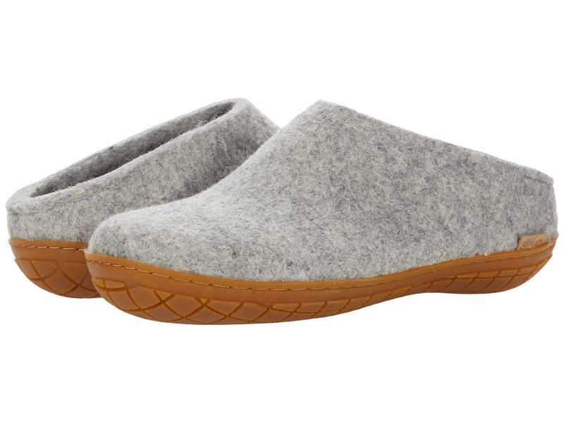 グリオプス メンズ サンダル シューズ Wool Slip-On Rubber Outsole Grey/Honey Rubb画像