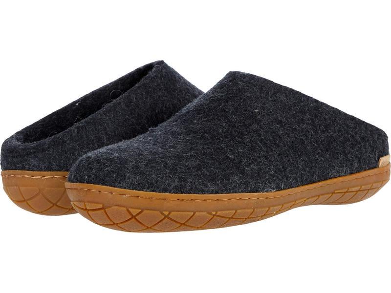 グリオプス メンズ サンダル シューズ Wool Slip-On Rubber Outsole Charcoal/Honey画像