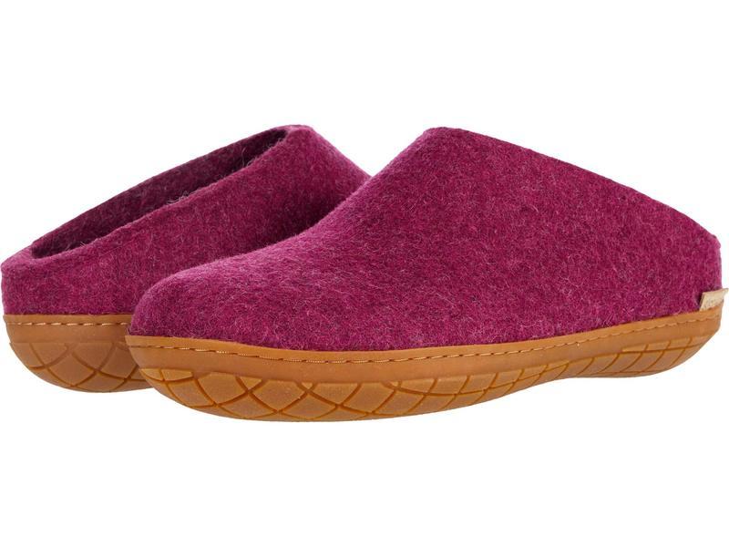 グリオプス メンズ サンダル シューズ Wool Slip-On Rubber Outsole Cranberry/Honey画像