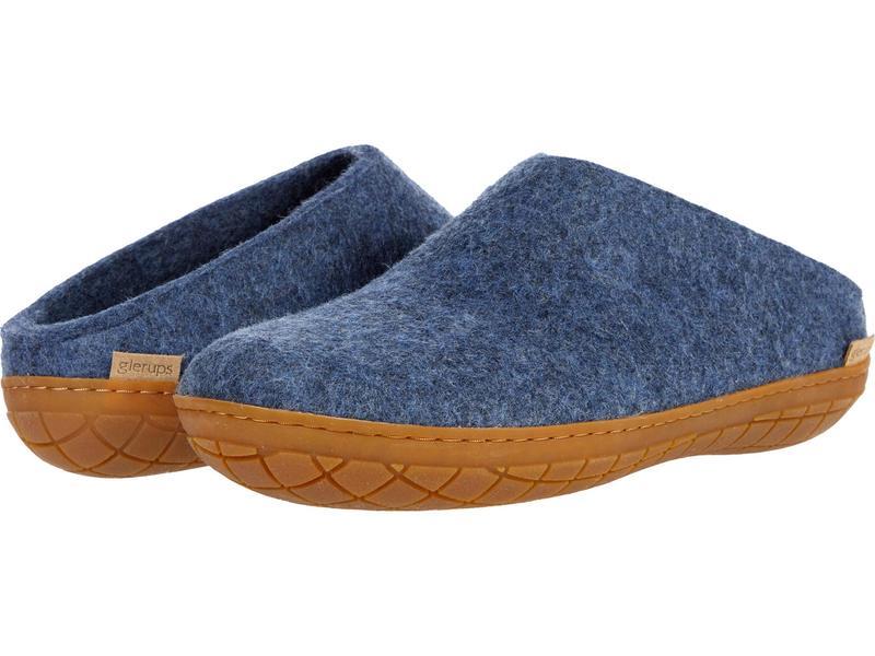グリオプス メンズ サンダル シューズ Wool Slip-On Rubber Outsole Denim/Honey Rub画像