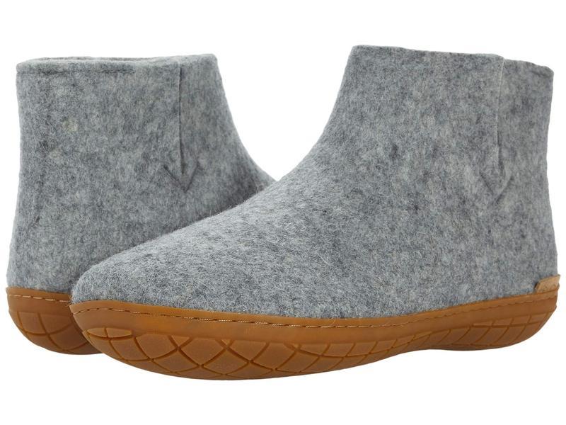 グリオプス メンズ サンダル シューズ Wool Boot Rubber Outsole Grey/Honey Rubb画像