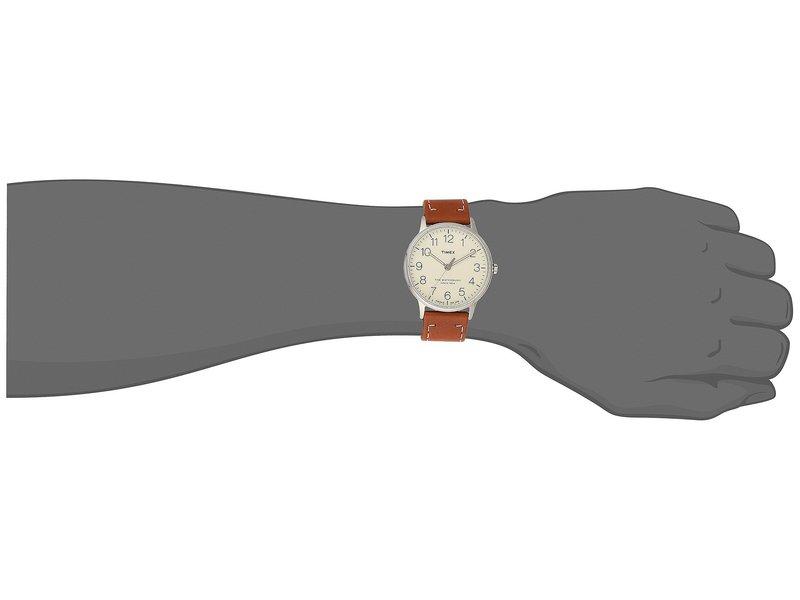 タイメックス メンズ 腕時計 アクセサリー Waterbury Classic 40 Brown/Cream