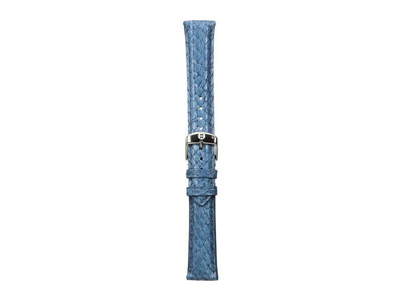 ミッシェル レディース 腕時計 アクセサリー 18mm Seamist Fish Skin Strap Blue Blue