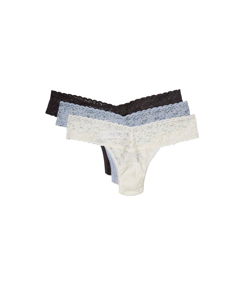 ハンキーパンキー レディース パンツ アンダーウェア 3-Pack Low Rise Thong Marshmallow/Dove Grey/Granite
