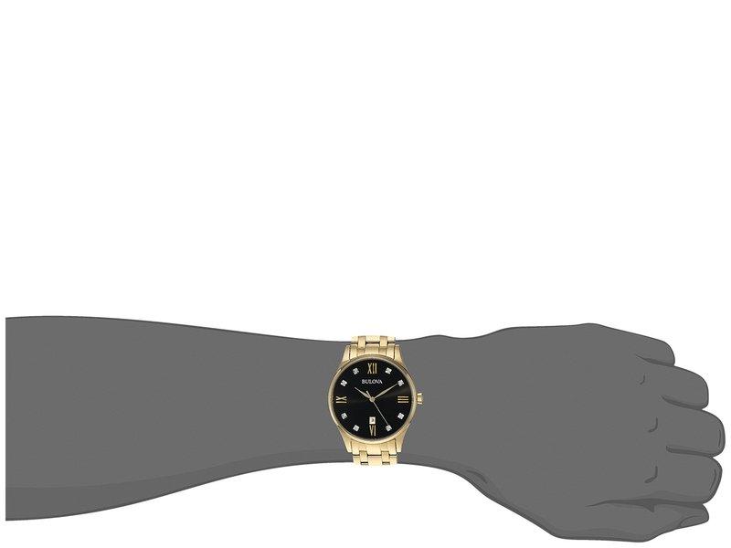 ブロバ メンズ 腕時計 アクセサリー Diamonds - 97D108 Gold