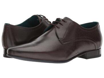 テッドベーカー メンズ オックスフォード シューズ Bhartli Brown Leather