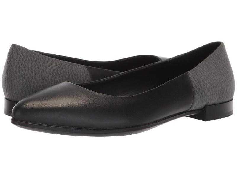 エコー レディース サンダル シューズ Shape Pointy Flat Black/Black