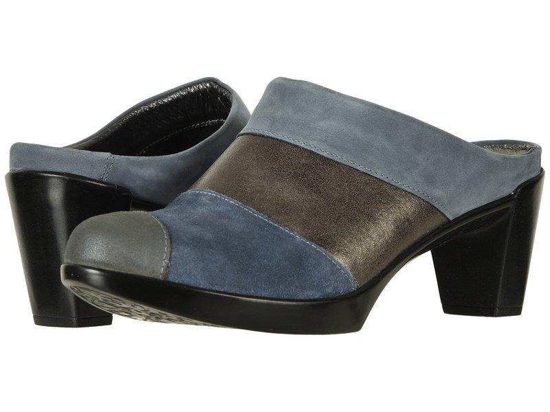 ナオト レディース サンダル シューズ Fortuna Feathery Blue Nubuck/Gray Shimmer Leather Combo