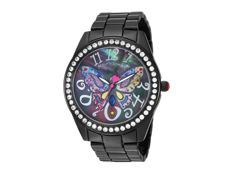 ベッツィジョンソン レディース 腕時計 アクセサリー 37BJ00249-66BX Multicolor Butterfly Black