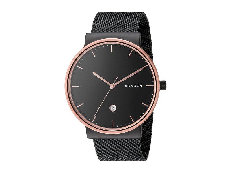 スカーゲン メンズ 腕時計 アクセサリー Ancher SKW6296 Black/Stainless Steel