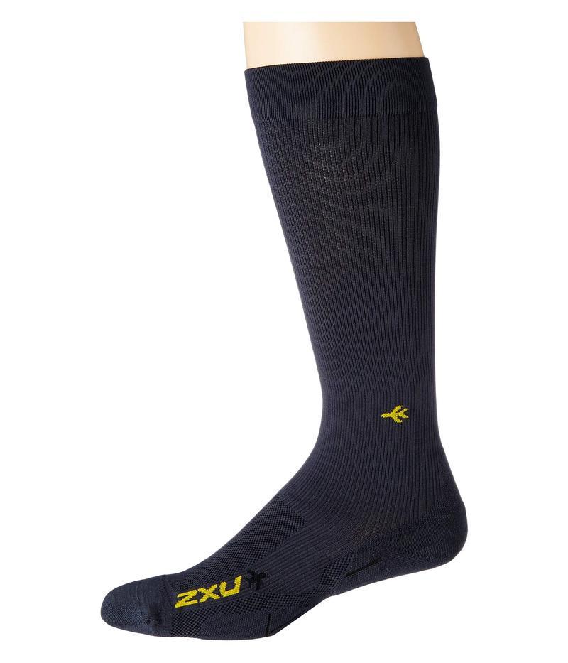 2XU メンズ 靴下 アンダーウェア Flight Compression Socks - Light Cushion Titanium/Titanium