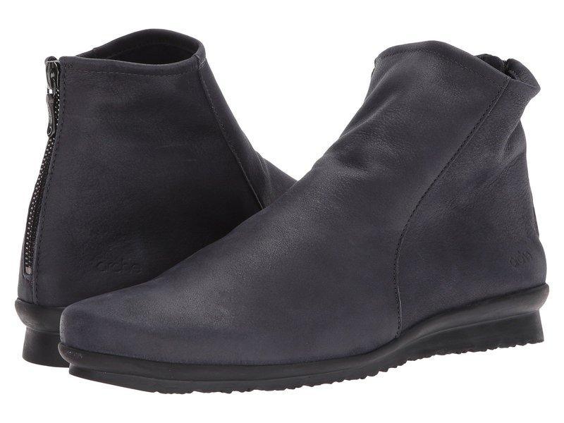 アーク レディース ブーツ・レインブーツ シューズ Baryky Grey Waxed Leather