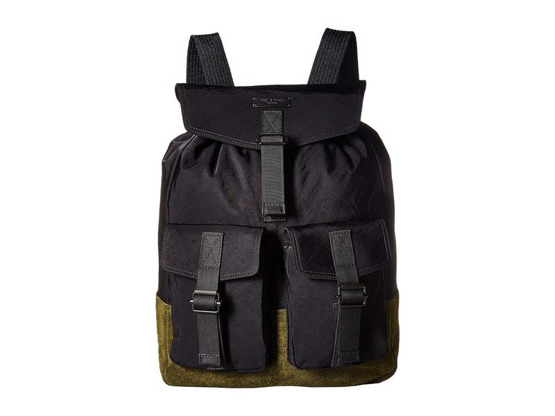 8e3844466a04 ラグアンドボーン メンズ バックパック·リュックサック バッグ Field Backpack Black 送料無料 サイズ交換無料 ラグアンドボーン メンズ  バッグ バックパック·リュック ...