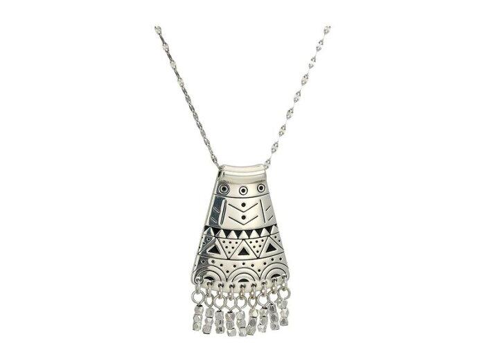 ブライトン レディース ネックレス・チョーカー・ペンダントトップ アクセサリー Africa Stories Etched Sway Necklace Silver