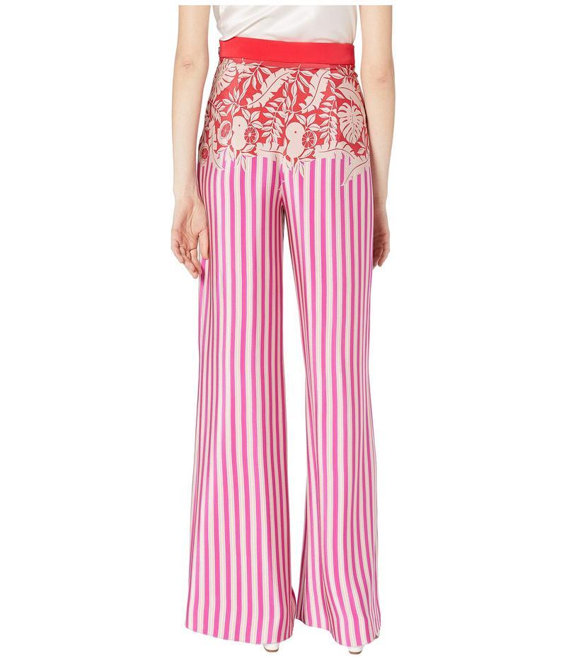 クシュニーエオクス レディース カジュアルパンツ ボトムス High-Waisted Wide Leg Pants Tropical Stripe