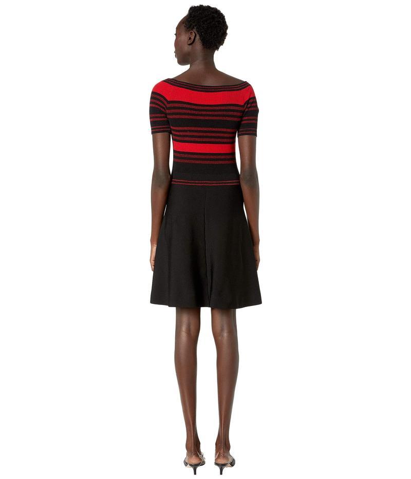 レッドヴァレンティノ レディース ワンピース トップス Abito Maglia Dress Black/Red