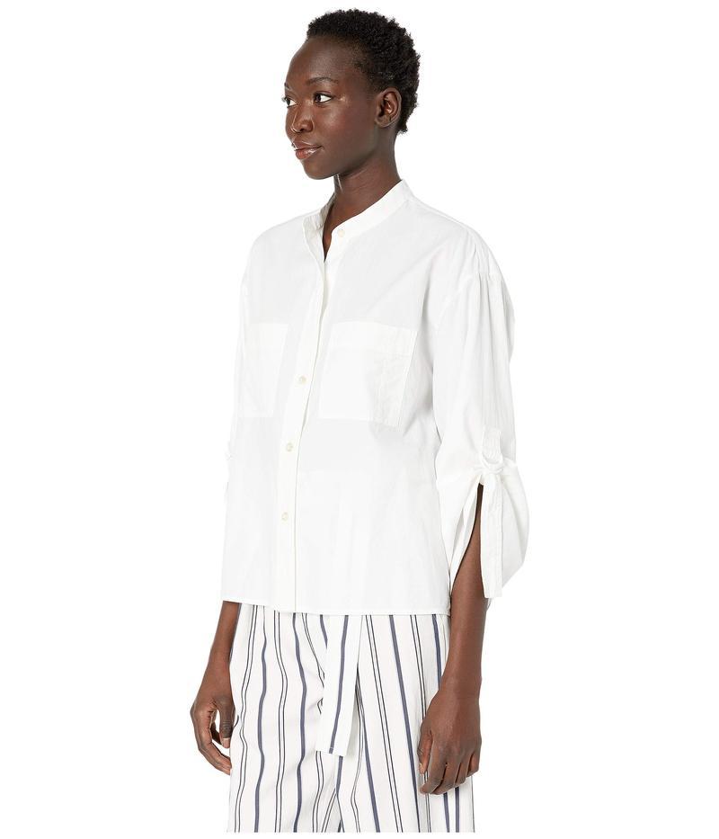 ヴィンス レディース シャツ トップス D-Ring Sleeve Utility Shirt Optic White