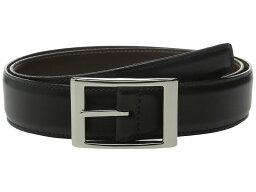 トリーノレザー メンズ ベルト アクセサリー Reversible 33MM Aniline Leather w/ Aniline Leather Black/Brown