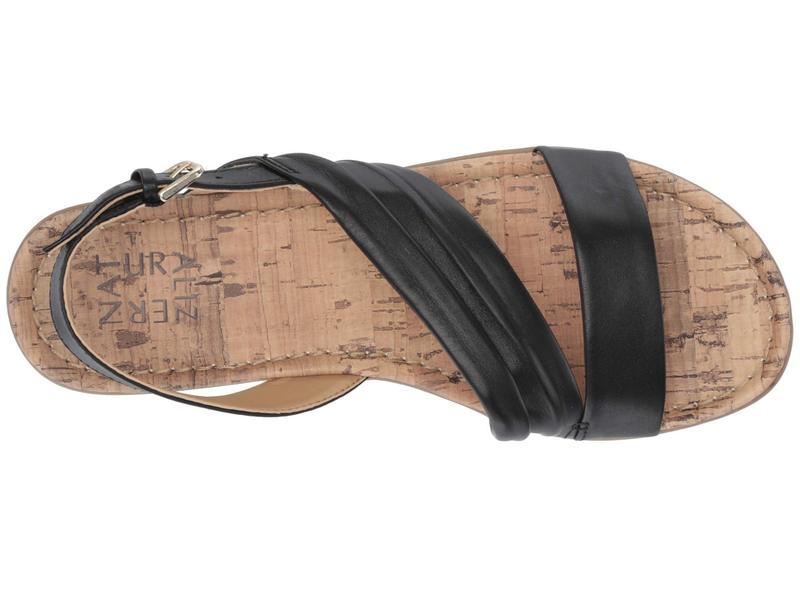 ナチュライザー レディース サンダル シューズ Wyn Black Leather
