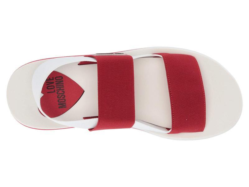 ラブ モスキーノ レディース サンダル シューズ Elastic Bicolor Sandal Red/White