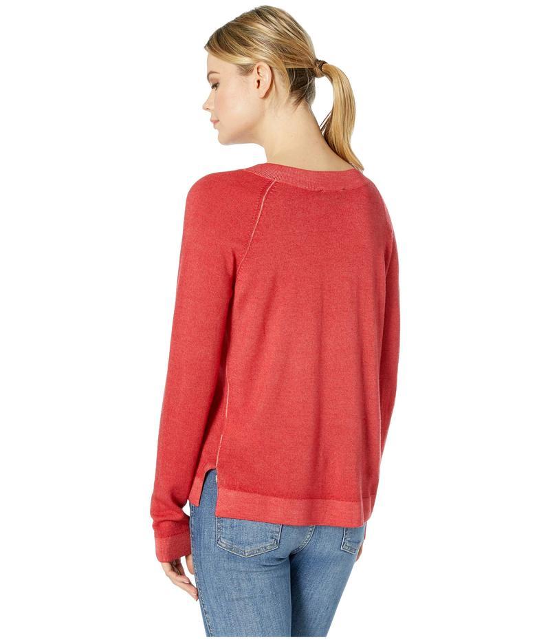 ペンドルトン レディース ニット・セーター アウター Long Sleeve Magic Wash Merino V-Neck Aurora Red