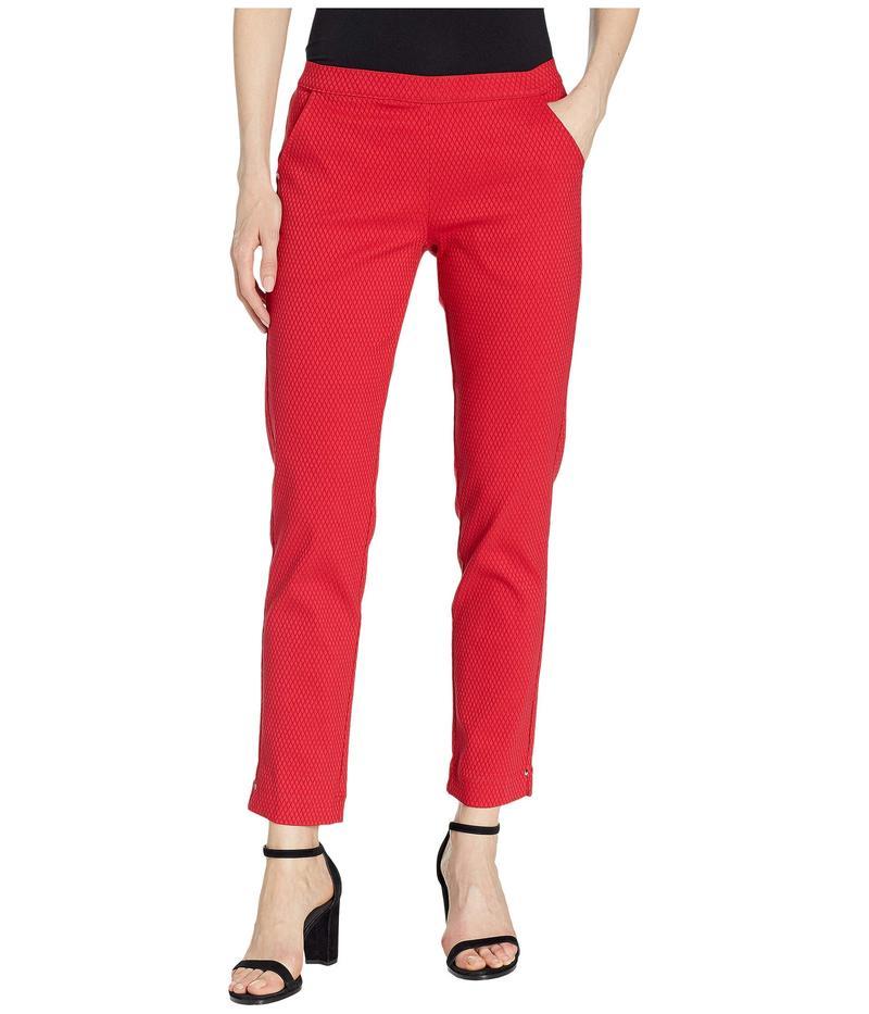 ボトムス, パンツ  Diamond Texture Loafer Skimmer Leggings Red