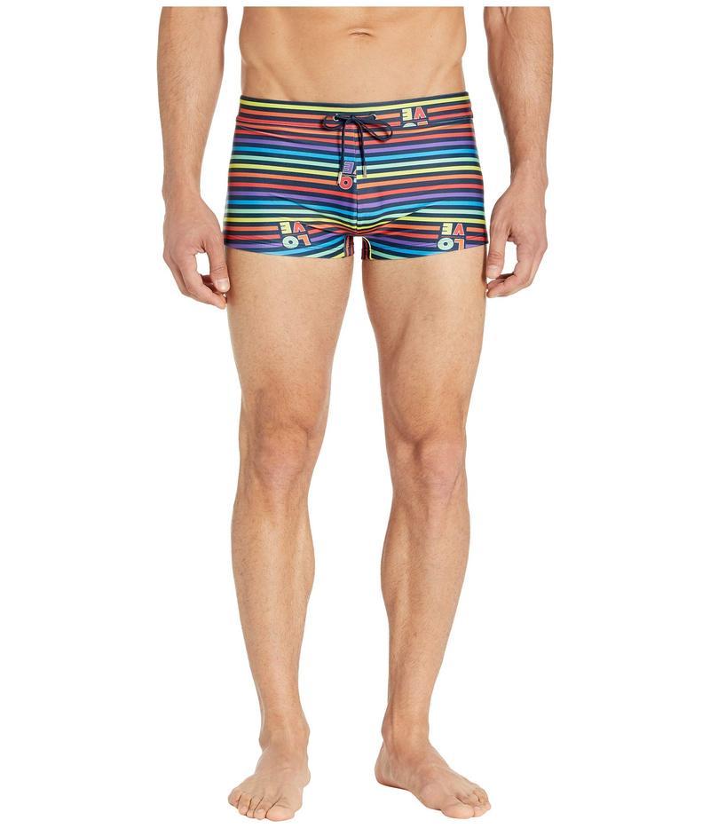 ツーイグジスト メンズ ハーフパンツ・ショーツ 水着 Essential Cabo Love Stripe/Rainbow Navy Drawcord