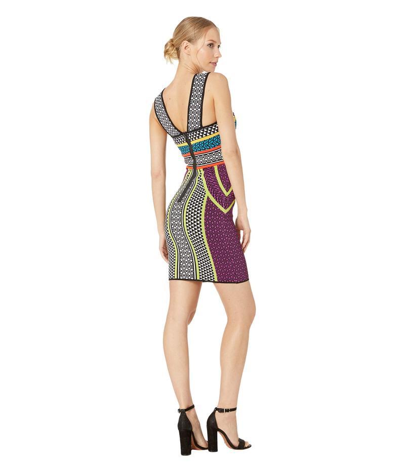 ビーシービージーマックスアズリア レディース ワンピース トップス Printed Fitted Halter Dress Multi