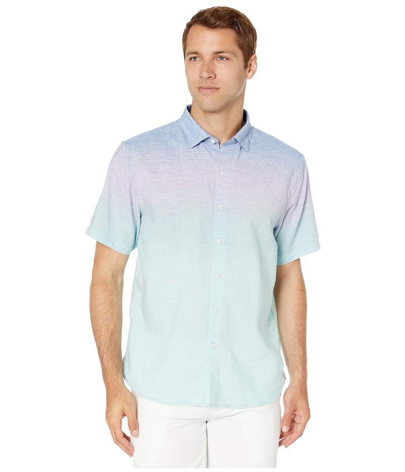 トップス, カジュアルシャツ  Sea To Sky Stripe Stretch-Linen Shirt Ocean Tropic