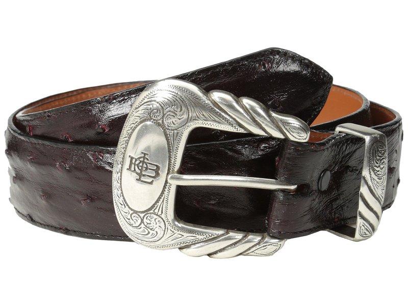 ルチーズ メンズ ベルト アクセサリー W6021 Black Cherry Full Quill Ostrich