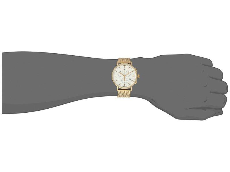 タイメックス メンズ 腕時計 アクセサリー Fairfield Chrono Mesh Gold/White