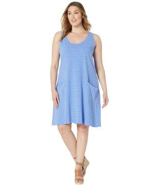 フレッシュプロデュース レディース ワンピース トップス Plus Size Promenade Stripe Drape Dress Periwinkle