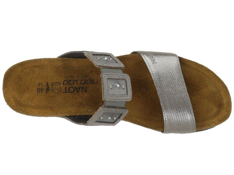 ナオト レディース サンダル シューズ Emma Silver Threads Leather/Mirror Leather/Silver Threads Leather