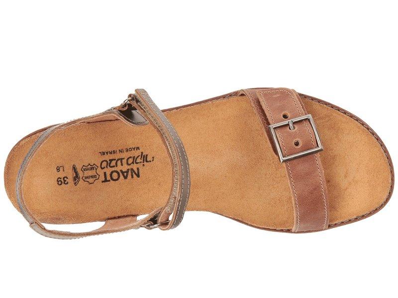 ナオト レディース サンダル シューズ Boho Latte Brown Leather/Pewter Leather