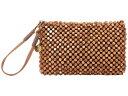 ザサック レディース ハンドバッグ バッグ Montara Wristlet Brown Wood Beads