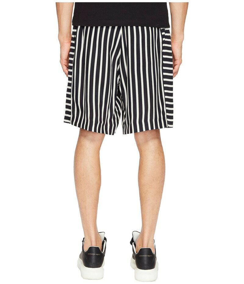 アレキサンダー・マックイーン メンズ ハーフパンツ・ショーツ ボトムス Panelled Shorts Black/White