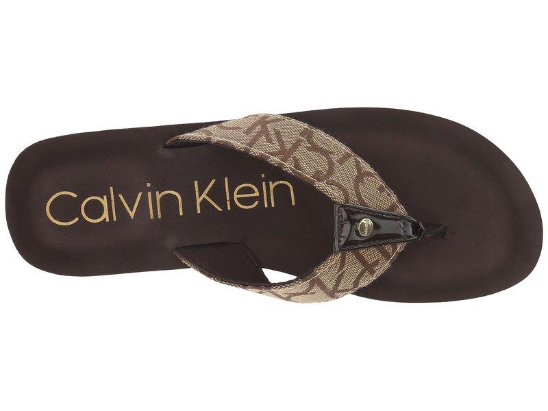 カルバンクライン レディース サンダル シューズ Mulan CK Logo Brown