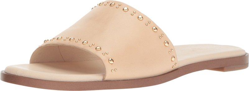 コールハーン レディース サンダル シューズ Anica Stud Slide Sandal Nude Leather