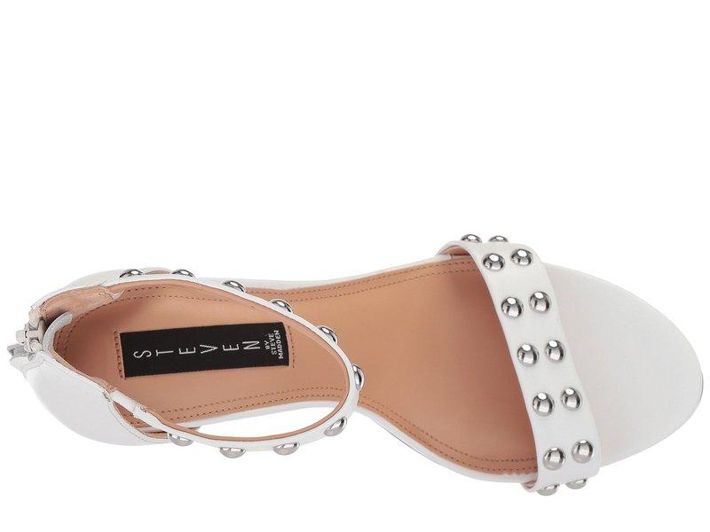 スティーブン レディース サンダル シューズ Nollie-S Stiletto Sandal White Leather