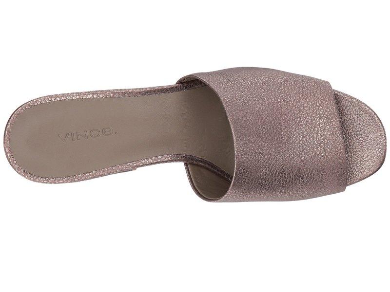 ヴィンス レディース サンダル シューズ Karissa Bronze Metallic Tumbled Calf