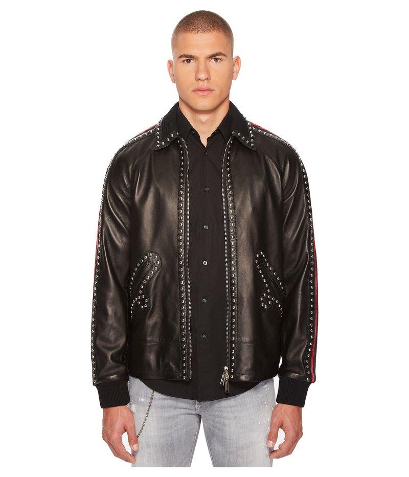 ディースクエアード メンズ コート アウター 50s Leather Jacket Black