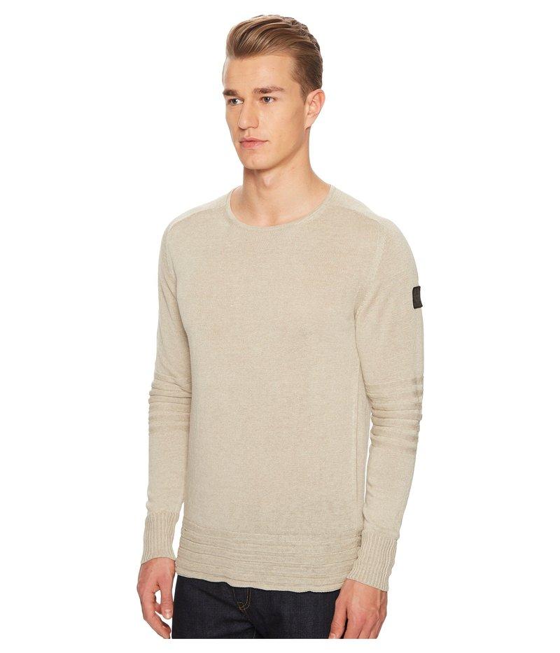 ベルスタッフ メンズ ニット・セーター アウター Exford Fine Gauge Linen Sweater Light Sand