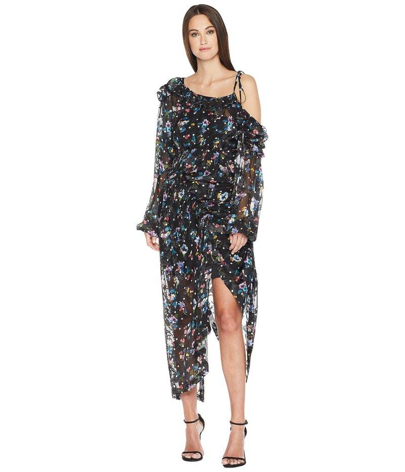 プリーン ソーントン ブルガッジ レディース ワンピース トップス Cosmos Dress w/ Black Jersey Slip Black Floral