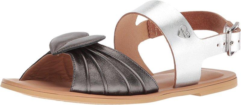 ラブ モスキーノ レディース サンダル シューズ Leather Sandals w/ Tone on Tone Accessories Black/Silver