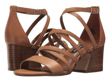ナインウェスト レディース ヒール シューズ Youlo Strappy Block Heel Sandal Dark Natural Leather