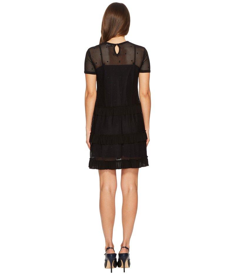 レッドヴァレンティノ レディース ワンピース トップス Jersey Mesh Dress Black