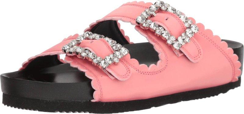 シューコンマボニー レディース サンダル シューズ Jewel Buckles Flat Sandals Pink