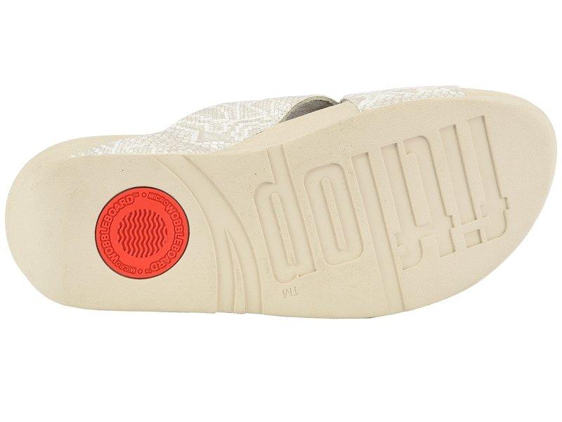 フィットフロップ レディース サンダル シューズ Lulu Python Print Slide Sandals Urban White